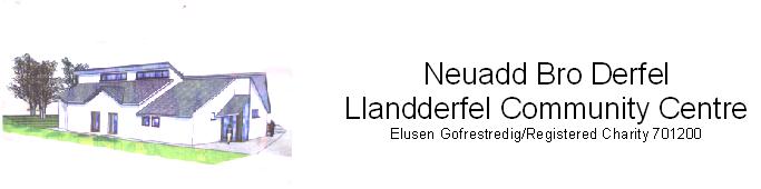 Neuadd Bro Derfel Logo